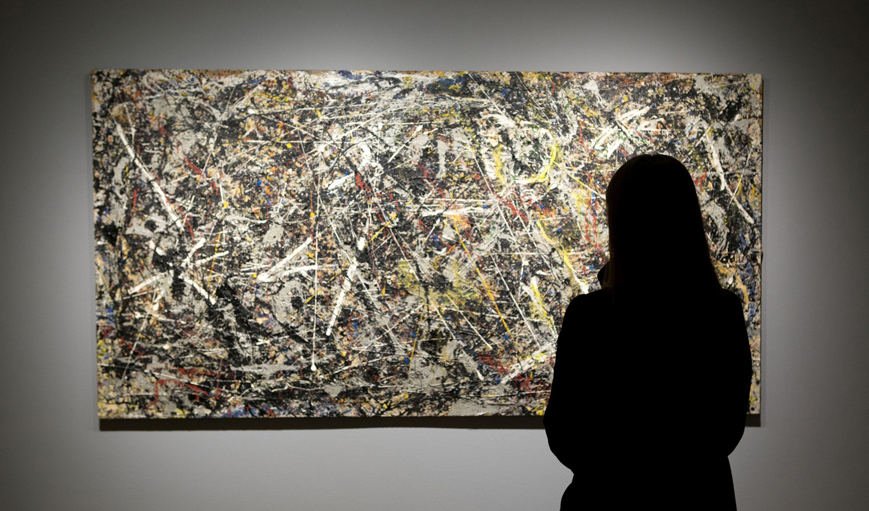 murals by jackson pollock Jackson pollock, mural (detail), 1943, oil and water-based paint on linen, 2429 x 6039 cm (university of iowa museum of art) the only paint to be identified as .